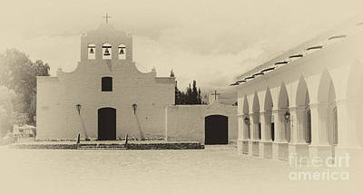 Photograph - Church And Courtyard Argentina by Bob Christopher
