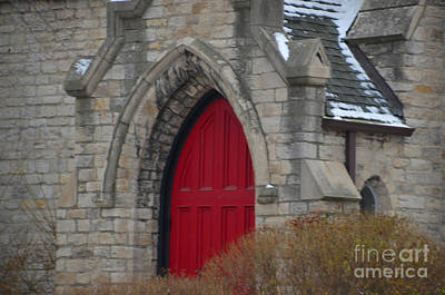 Photograph - Church And The Red Door by Randy J Heath