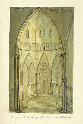 Church Architecture Art Print by British Library