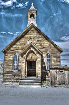 Photograph - Church At Bodie by SC Heffner
