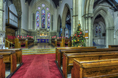 Church At Christmas V3 Art Print