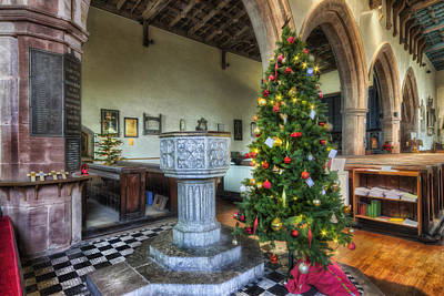 Photograph - Church At Christmas V7 by Ian Mitchell
