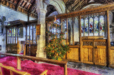 Photograph - Church At Christmas V9 by Ian Mitchell