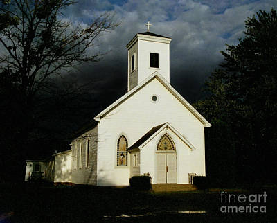 Photograph - Church At Dusk by Tom Brickhouse