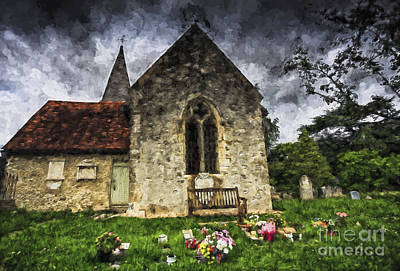 Beers On Tap - Church at Lissing by Sheila Smart Fine Art Photography