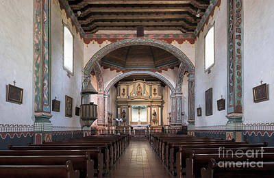 Photograph - Church At Mission San Luis Rey by Sandra Bronstein