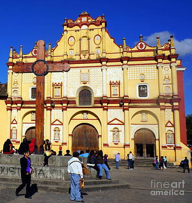 Photograph - Church At San Cristobal De Las Casa by Rachel Munoz Striggow