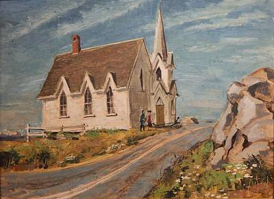 Church At Shag Harbor N.s. Original by Alan C Collier
