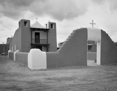 Church At Taos Pueblo Art Print by David and Carol Kelly