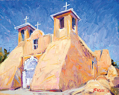 Painting - Church At Taos by Steven Boone
