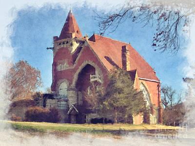 Photograph - Church At Va Center Leavenworth Kansas by Liane Wright
