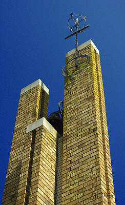Photograph - Church Bell Tower by James C Thomas