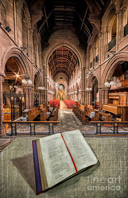 St Mary Photograph - Church Bible by Adrian Evans