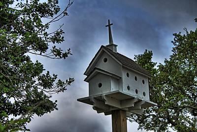 Israeli Flag - Church Birdhouse by Carolyn Ricks