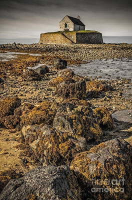 Coastline Digital Art - Church By The Rocks by Adrian Evans