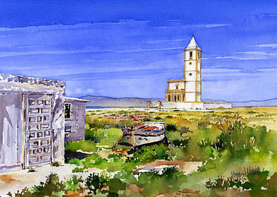 Church By The Salt Flats Print by Margaret Merry