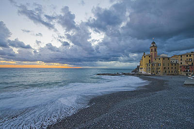 Golfo Paradiso Photograph - Church By The Sea by Giuseppe Digno