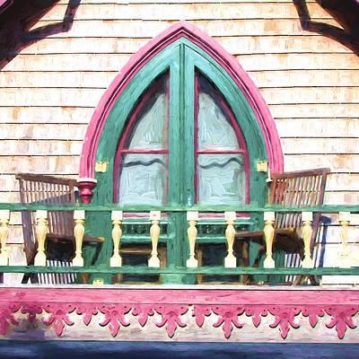 Massachusetts Photograph - Church Camp House Detail Painterly Series 8 by Carol Leigh