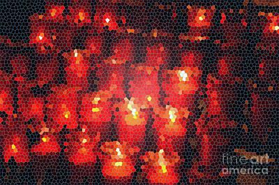 Digital Art - Church Candles Aflame by Eva Kaufman