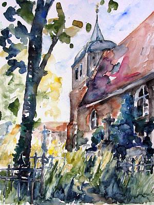 Church Cemetery In Buchholz Art Print by Barbara Pommerenke
