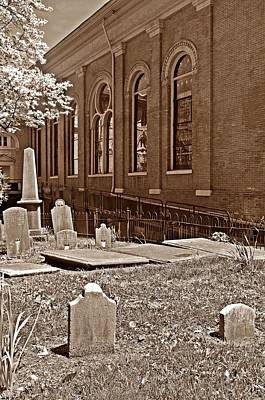 Photograph - Church Cemetery by Sharon Popek