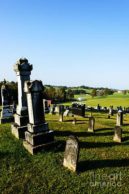 Wine Beer And Alcohol Patents - Church Cemetery by Thomas R Fletcher