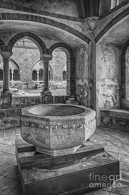 Baptism Photograph - Church Christening Font by Antony McAulay