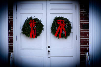 Digital Art - Church Christmas Doors by Audreen Gieger