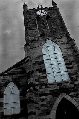 Photograph - Church Clock Tower by David Yocum
