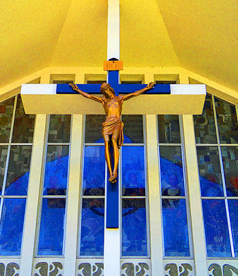 Photograph - Church Crucifix by Laurie Tsemak