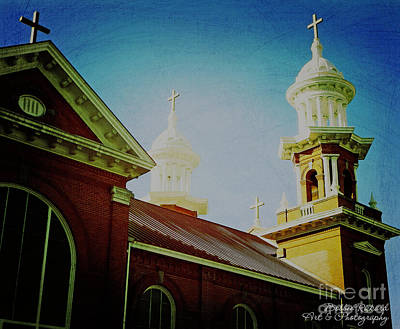 Photograph - Church Domes by Bobbee Rickard