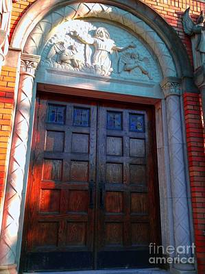 Photograph - Church Door 1 by Becky Lupe