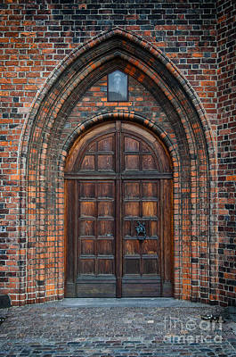 Medieval Temple Photograph - Church Door by Antony McAulay