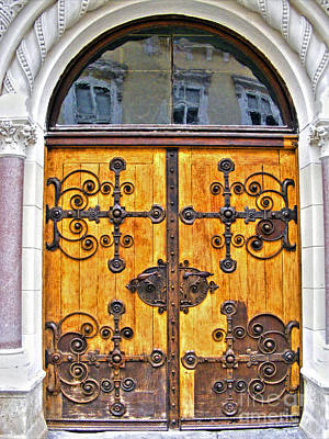 Photograph - Church Door by Nina Ficur Feenan