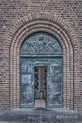 Medieval Temple Photograph - Church Doors 02 by Antony McAulay