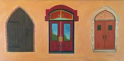 Painting - Church Doors by Stacy C Bottoms