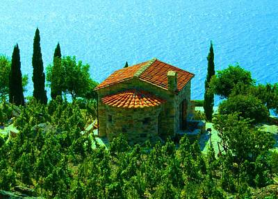 Enchanted Church Between Sea And Nature Art Print by Giuseppe Epifani