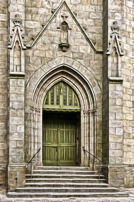 Photograph - Church Entry W0280d by Wes and Dotty Weber