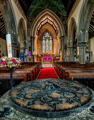 Victorian Digital Art - Church Font by Adrian Evans