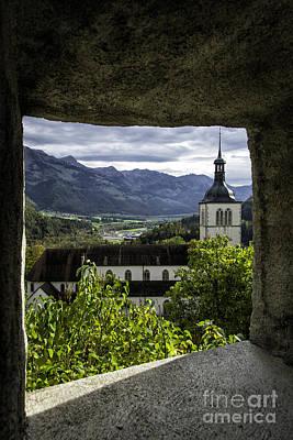 Church From Castle Window Art Print
