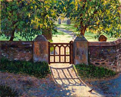 Graveyard Painting - Church Gate by Tilly Willis