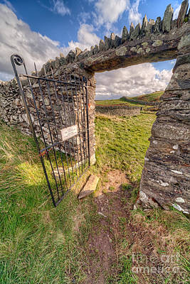 North Wales Photograph - Church Gate by Adrian Evans