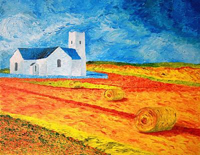 Paul Morgan Painting - Church Harvest Ballintoy by Paul Morgan