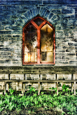 Window Bench Photograph - Church by HD Connelly