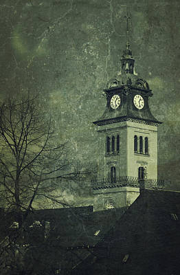 Refuge Mixed Media - Church In Saxony by Heike Hultsch