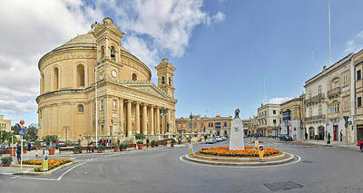 Rotunda Photograph - Church In A Town, Rotunda Of Santa by Panoramic Images