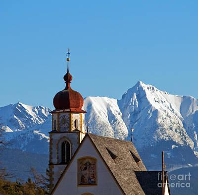 Daylight Photograph - Church In Alipine Scenery by Michal Bednarek