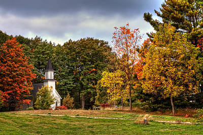 Photograph - Church In Autumn Colors by Richard Gregurich
