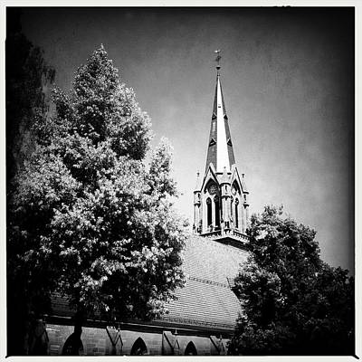 Church In Black And White Art Print by Matthias Hauser