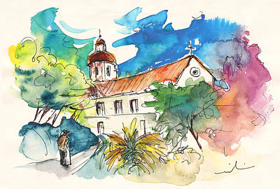 Portugal Art Painting - Church In Castro Marim In Portugal by Miki De Goodaboom